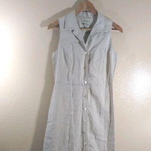 EDDIE BAUER Button Down Linen Maxi Dress